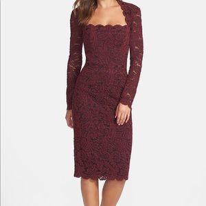 Maggy London wine lace dress